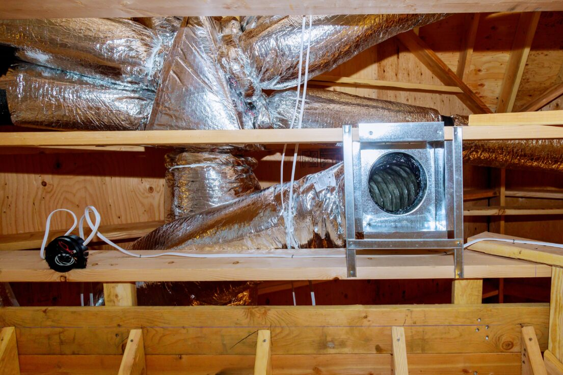 construction new home of installed of hvac vent in zca5uwe