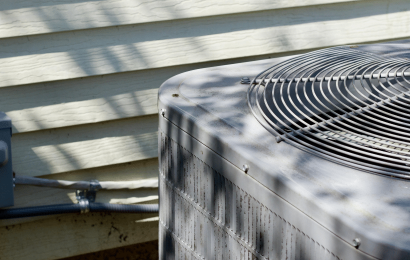 hvac system connected to a home